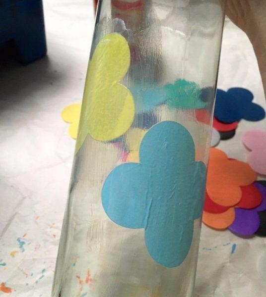 dekupázs üvegre