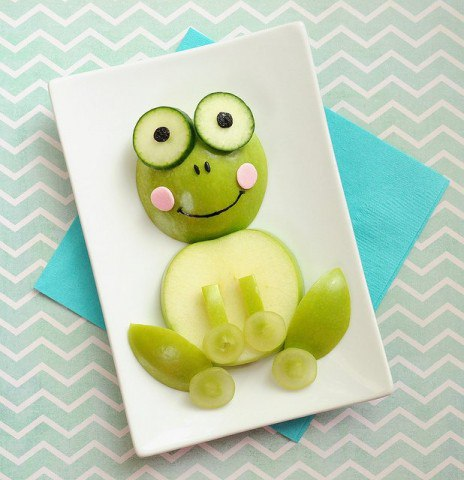 kreatív ötlet alma tálalására