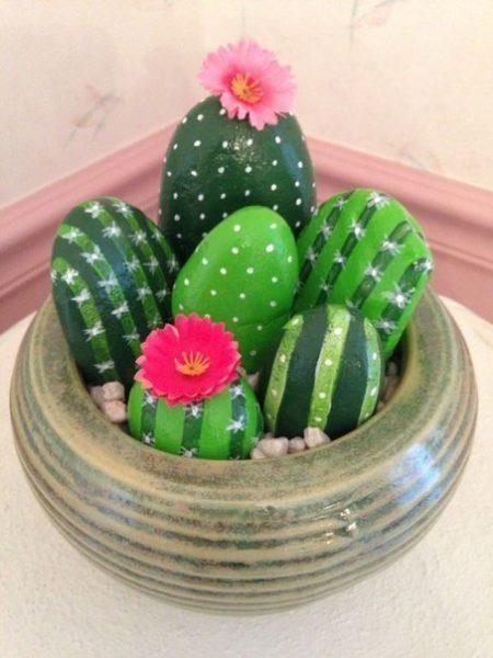 kőfestés kaktusz