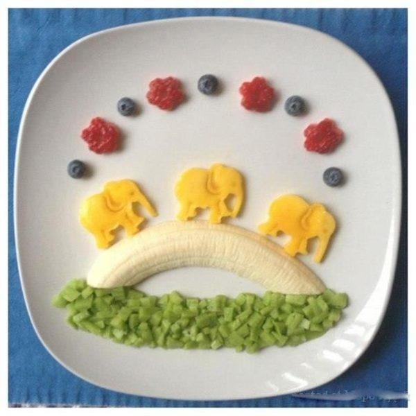 Kreatív banán tálalás