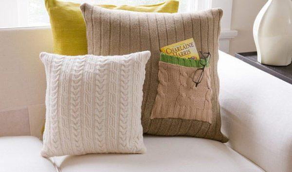 Párnahuzatok pulóverből