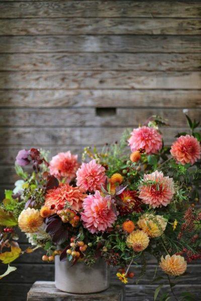 Őszi virágcsokor