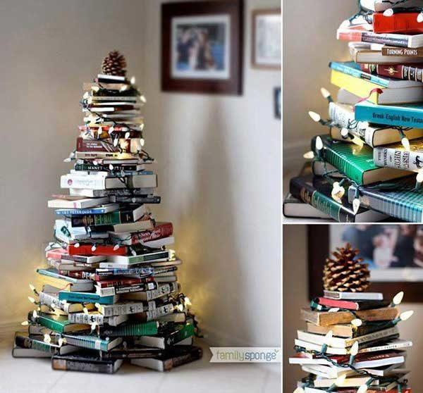kreatív karácsonyfa saját kezűleg