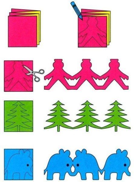 Karácsonyi papírfűzér