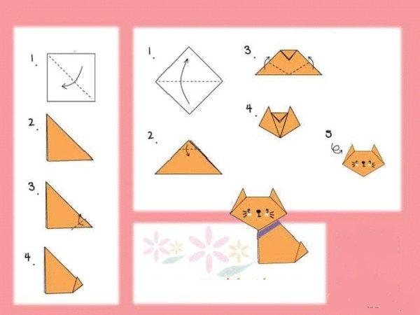 Origami cica