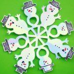 Papír hóember-hópehely
