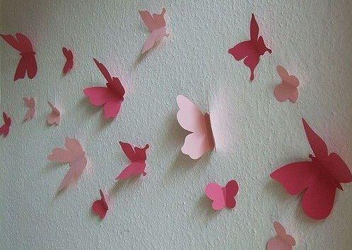Papír pillangó dekoráció