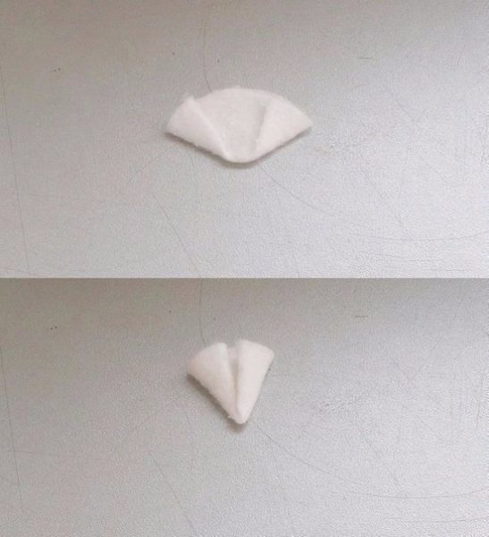 Angyalka dísz vattakorongból