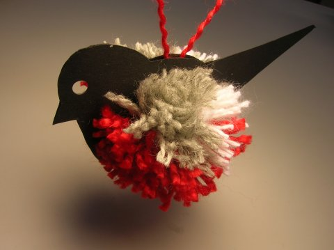 DIY pompon madár