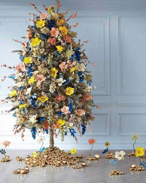 virágos karácsonyfa