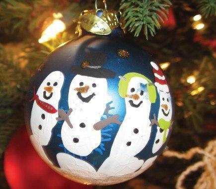 Kreatív karácsonyi gömbdísz
