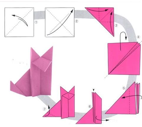 Origami róka