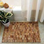 Fürdőszoba szőnyeg parafadugóból