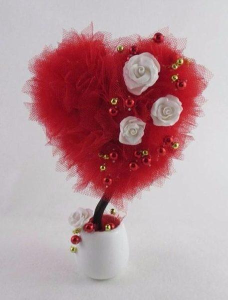 Szív fa készítése Valentin-napra.