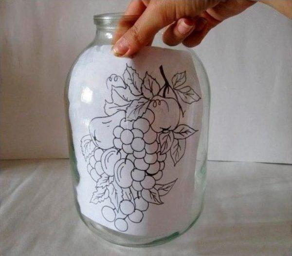 Befőttes üvegre festése