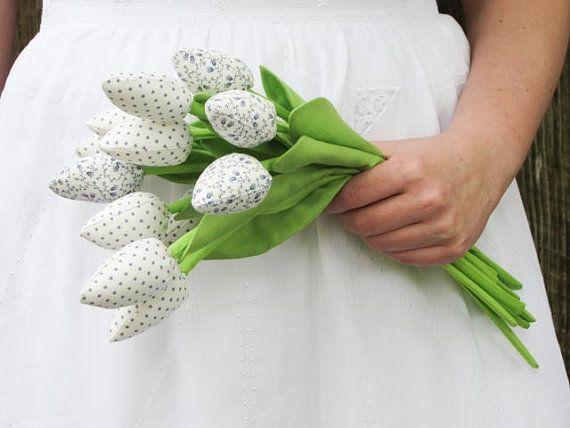 Textil tulipán