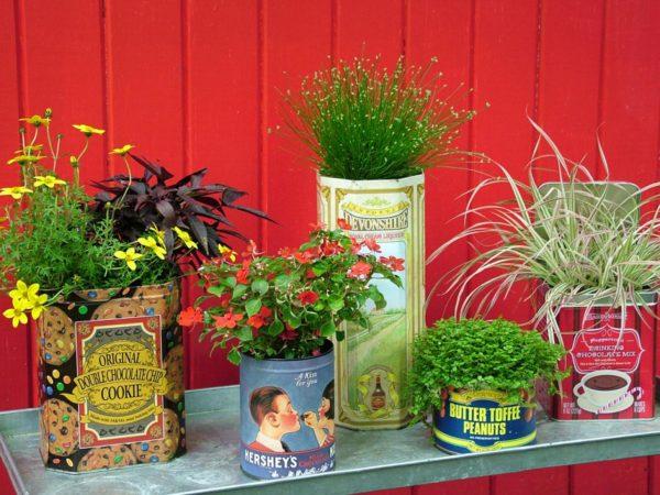 Kerti virágtartó házilag