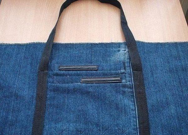 farmernadrágból táska