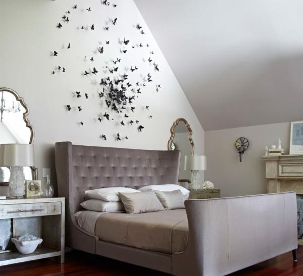 Pillangó dekoráció falra