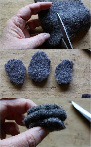 Kavicsszőnyeg készítése nemezelt gyapjúból