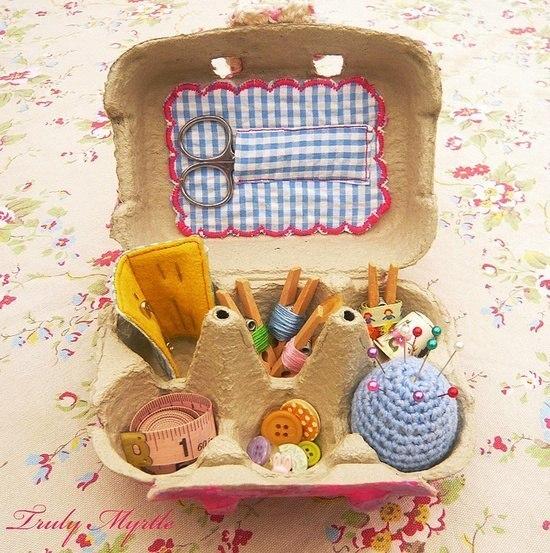 dekorációk tojástartóból