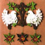 Papírmadár dekorációk