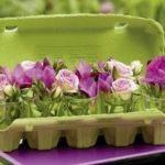 Tavaszi dekorációk tojástartóból