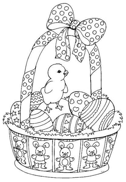 Húsvéti nyomtatható kifestők