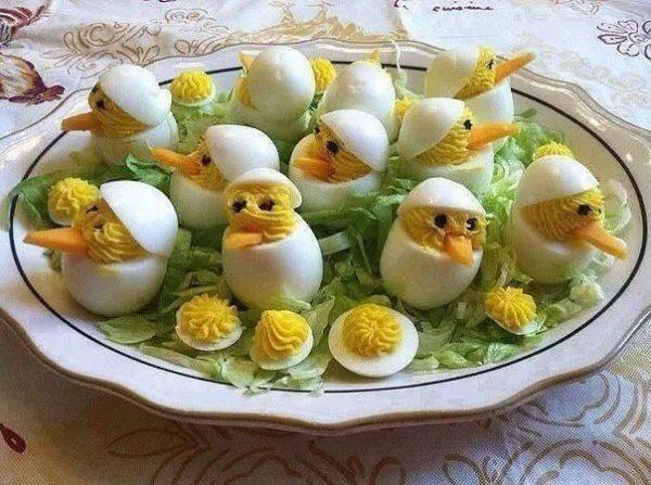 Kreatív főtt tojás