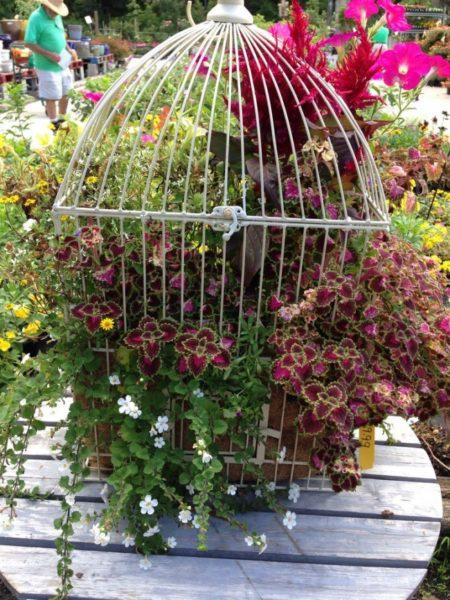Kerti virágtartó újrahasznosított tárgyakból