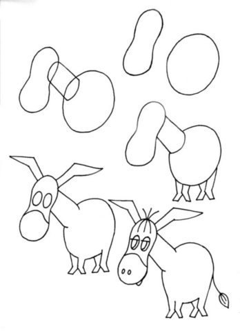 szamár rajzolás