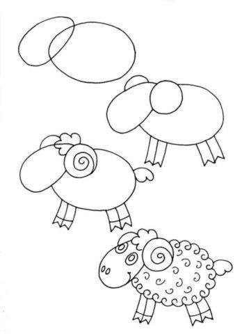 bárány rajzolás