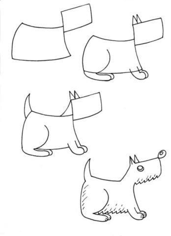 kutya rajzolás