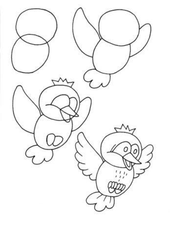 bagoly rajzolás