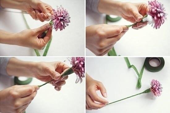 Virágcsokor készítése magazinból