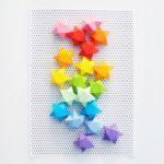 Dekorációs papír csillagok készítése