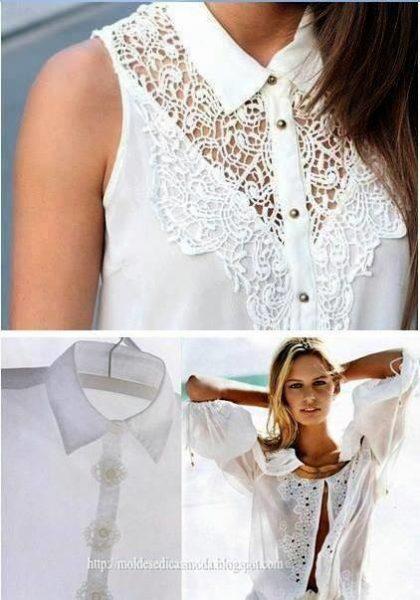 Férfi ingből női blúz