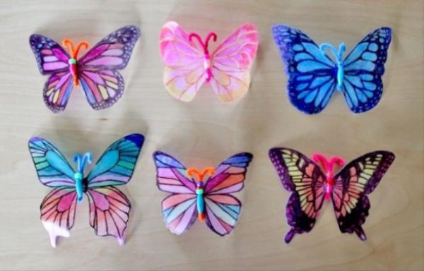 PET palack pillangók