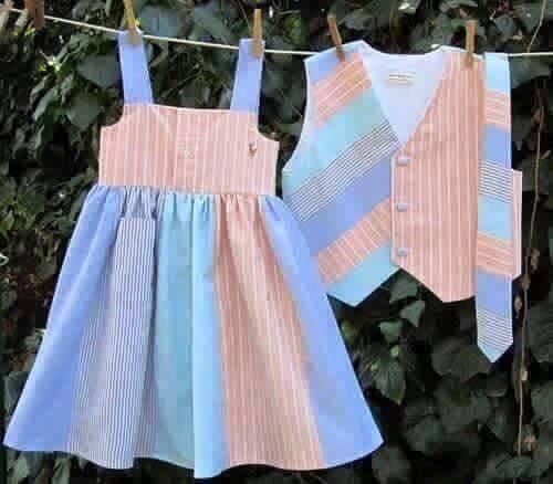 Férfi ingből kislány ruha