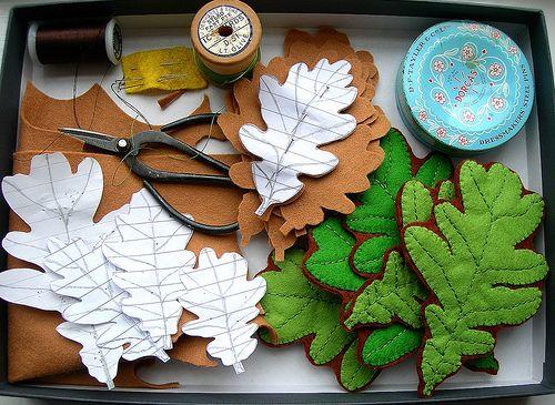 Őszi filc dekoráció