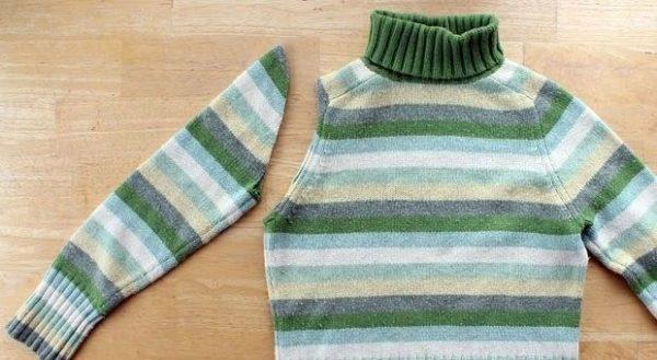 Mutatjuk, hogyan készül kesztyű pulóverből: