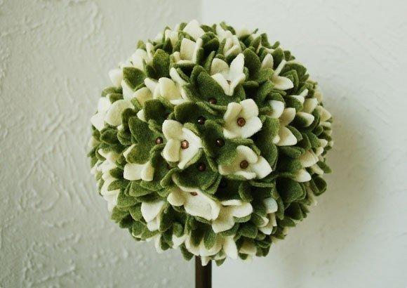 Tavaszi gömbfa filcből