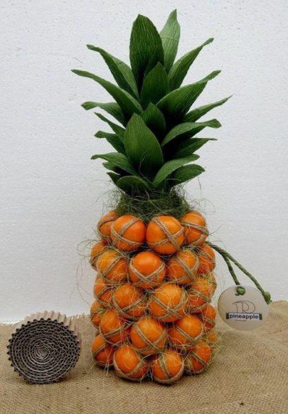 Mandarin ananász pezsgős üvegből