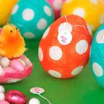 Meglepetés húsvéti tojások papírból és lufiból