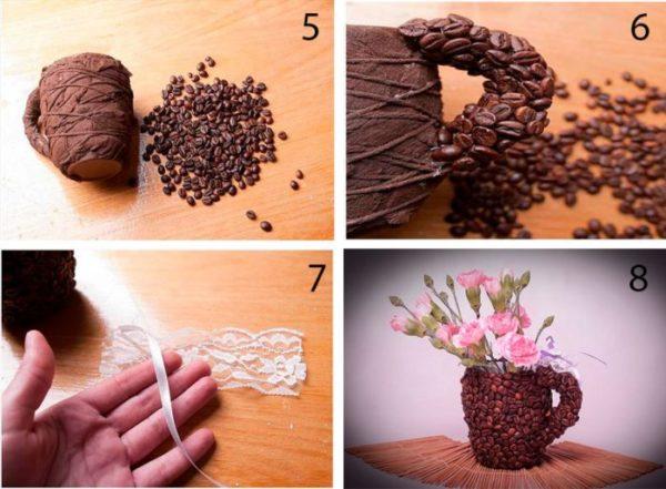 kávészemes csésze