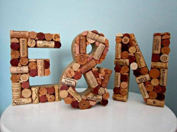 3D betűk parafa dugóból