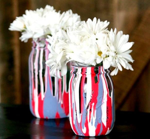 Színes festékes váza