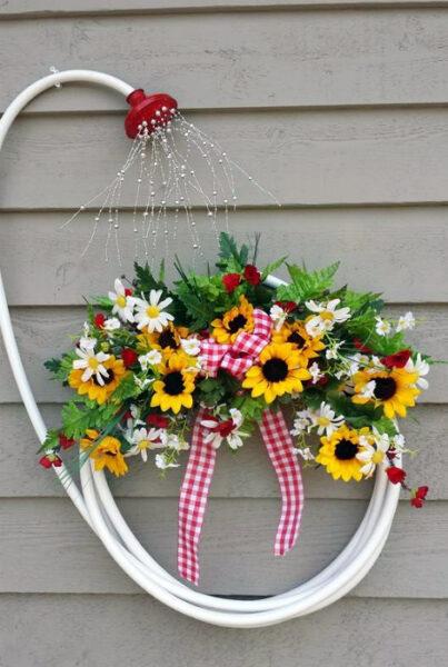 kreatív kerti dekoráció