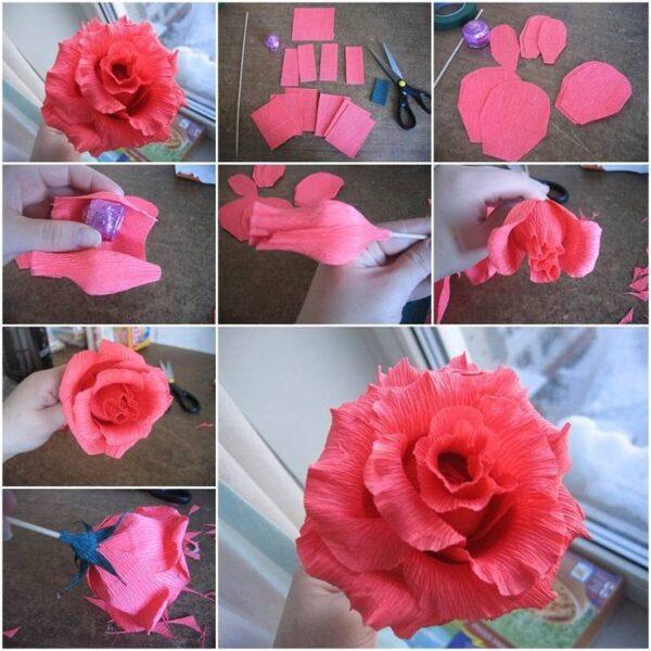 papír virág