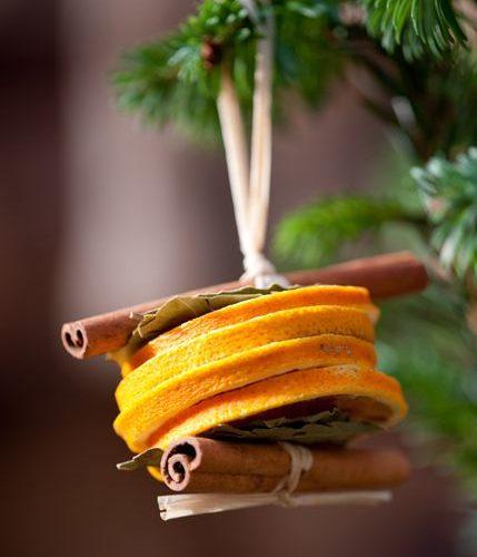 Citrusos karácsonyi dekorációk